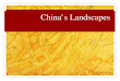China's landscapes