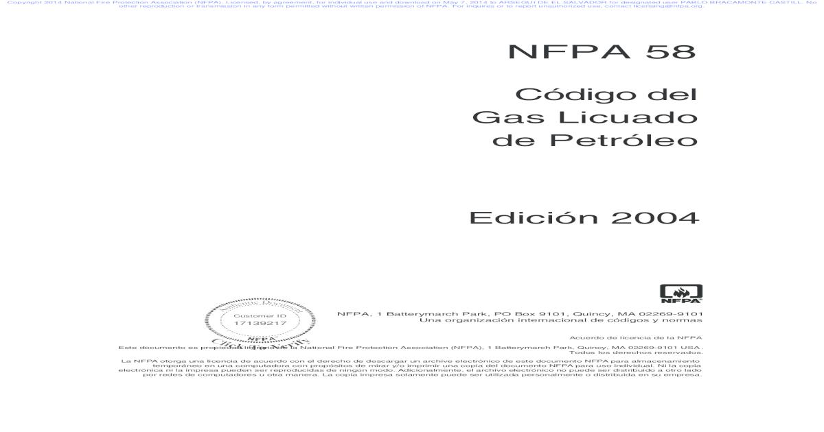 NFPA 58 2011 PDF DOWNLOAD