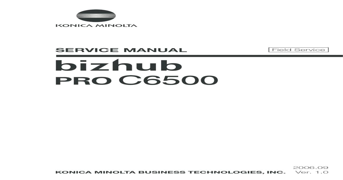 minolta bizhub 162 210 service manual
