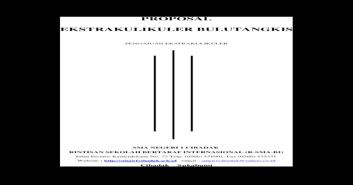 94541605 Proposal Pengajuan Ekstrakulikuler