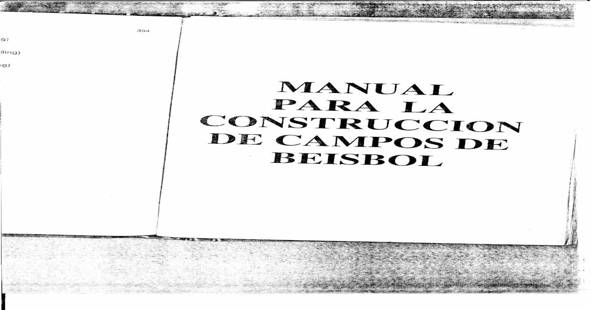 Manual Construccion Campo de Beisbol