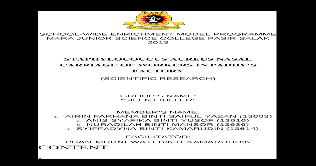 thesis format mrsm