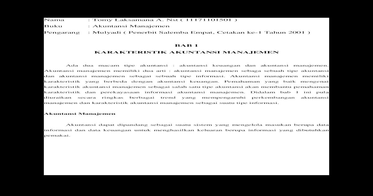 Ebook Akuntansi Manajemen Mulyadi