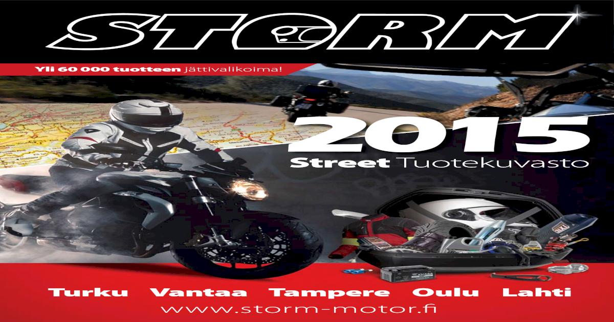 Storm Motor Street Tuotekuvasto 2015 35369f9ee3