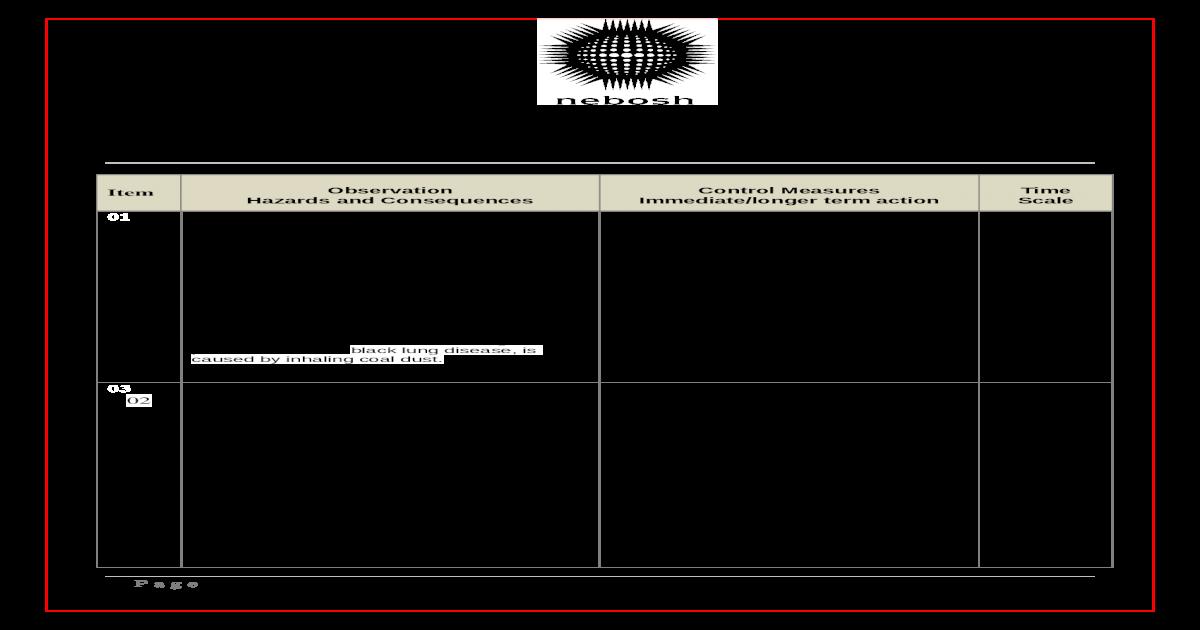 nebosh igc 3 observation sheet 00218445 final