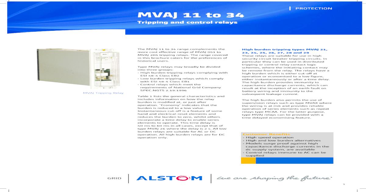 Mvaj relay manual areva cheapraybanclubmaster Images