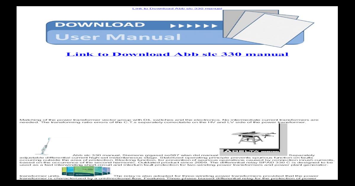 abb slc 330 manual