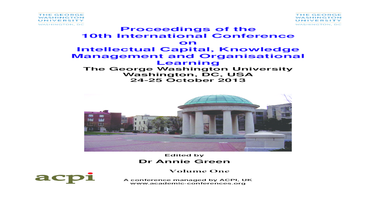Proceedings of the 10th International Conference on Intellectual