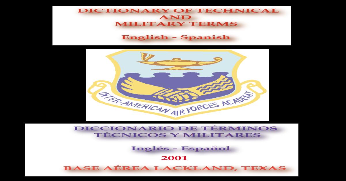 b2936b89a Diccionario de Terminos Tecnicos y Militares (ING-ESP)