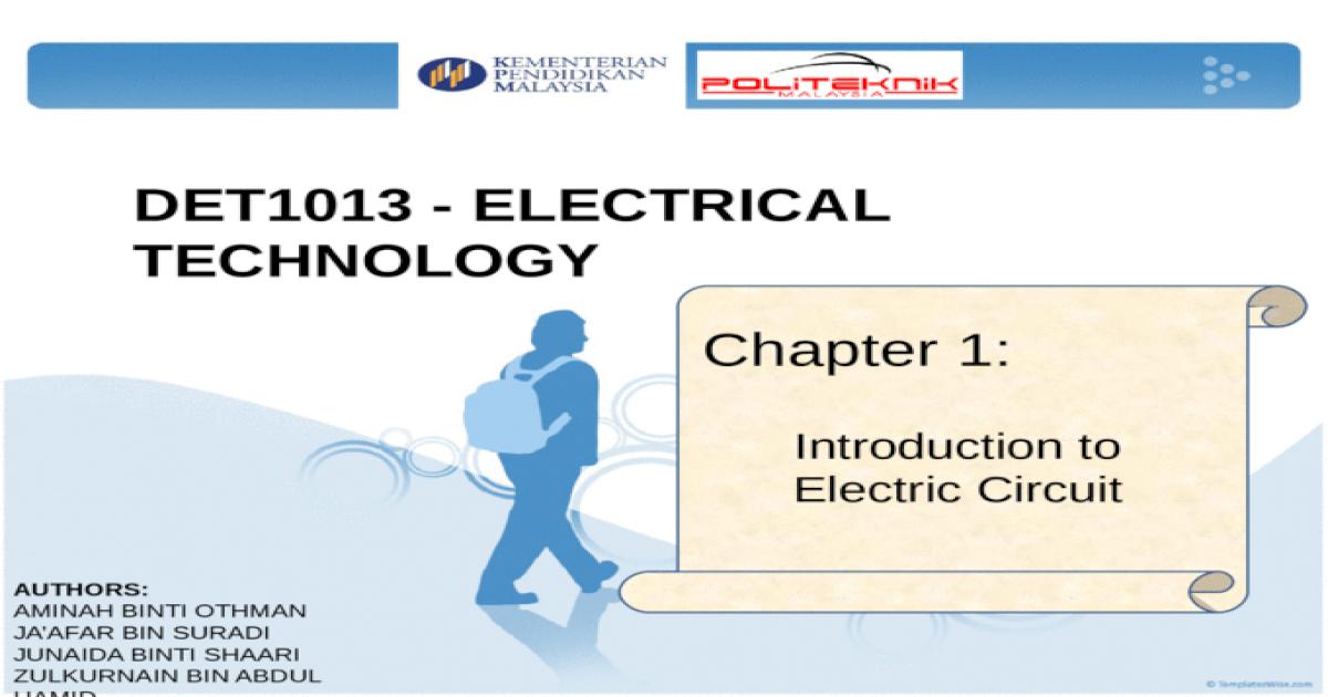 electrical technology topic 1 sem 1 politeknik