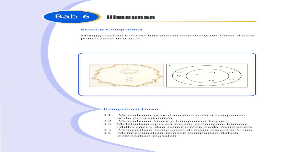 Himpunan semesta u diagram venn himpunan hubungan himpunan dengan matematika kls 7 bab 6 ccuart Image collections