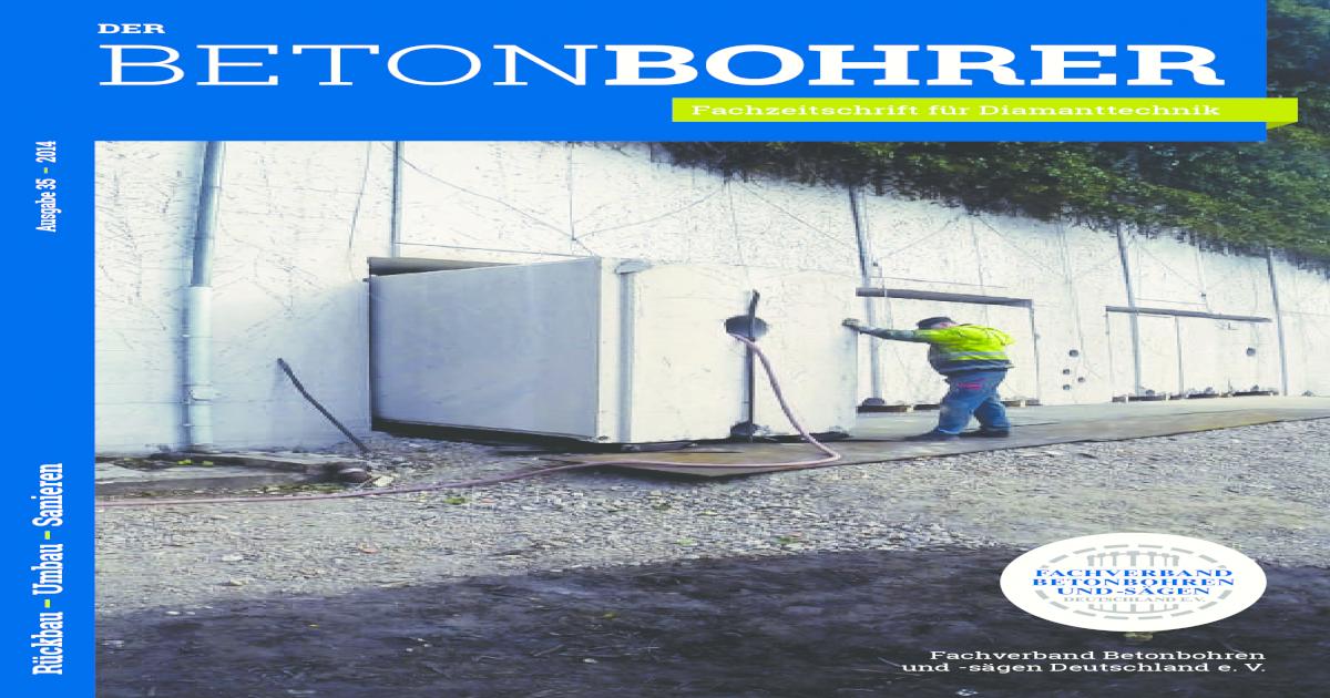 Der Betonbohrer / The Concrete Driller