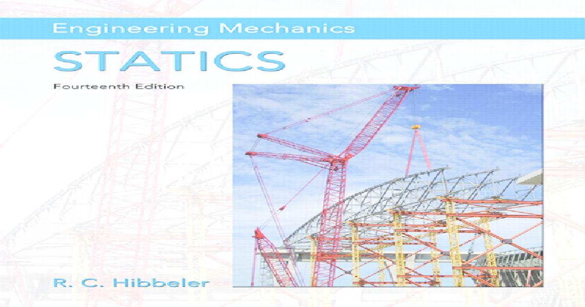 Engineering Mechanics Statics 14th Edition PDF Free
