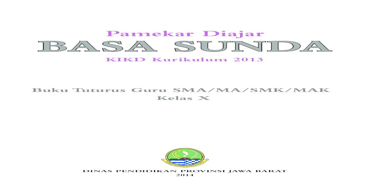 Buku Guru Sunda Kls 10 2014
