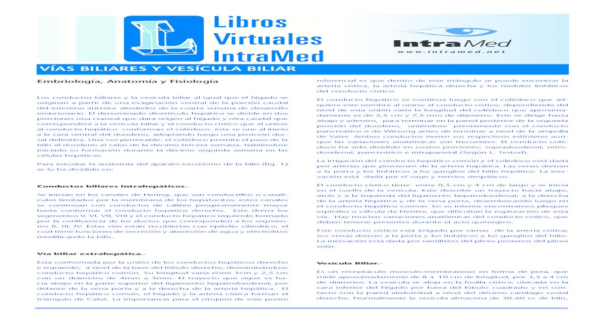 vias biliares y vesicula biliar