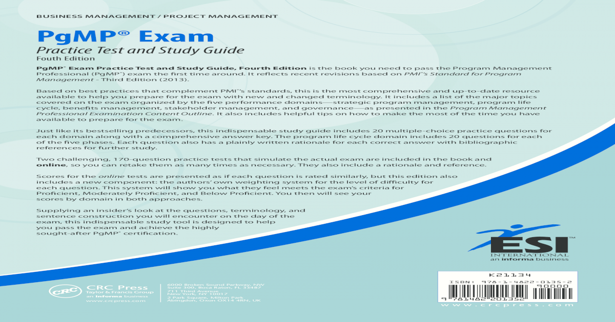 Pgmp study guide download pdf passing the pgmp exam a study guide pre order video dailymotion array pgmp practice exam rh dokumen tips fandeluxe Gallery