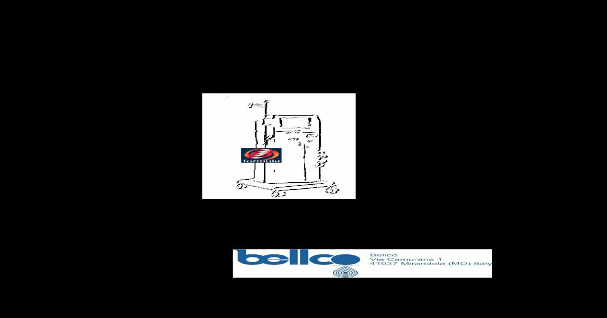 bellco formula 2000 user manual