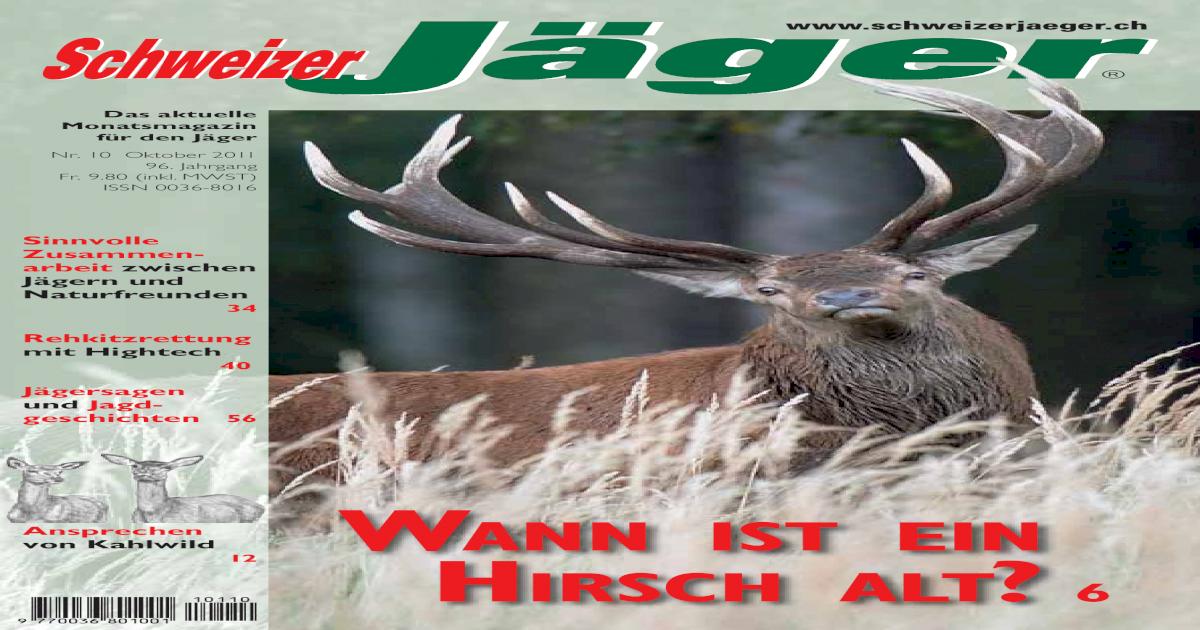 Entfernungsmesser Jagd Askari : Schweizer jäger 10 2011