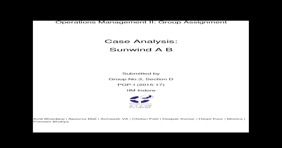 sunwind ab case study