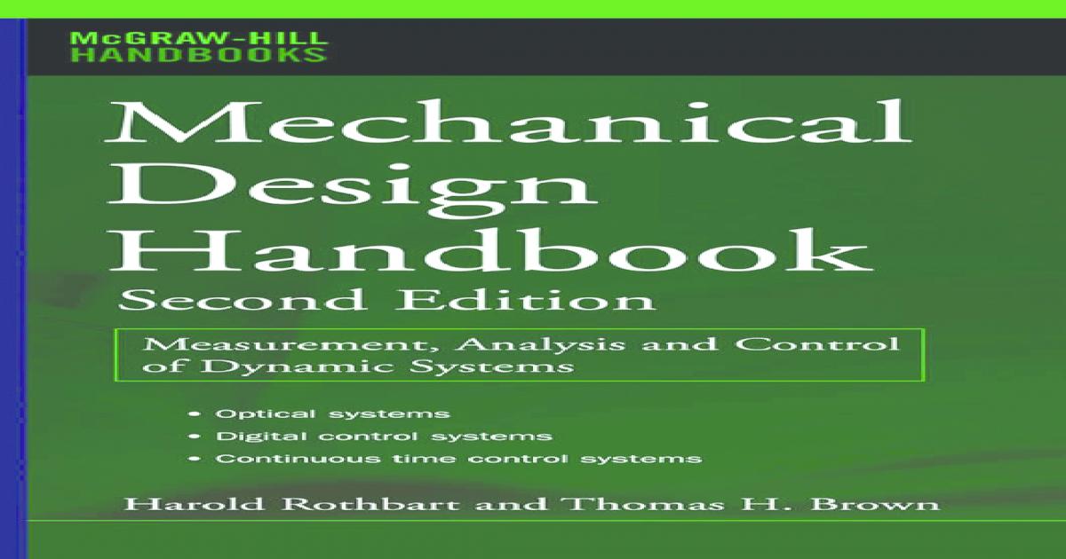 Mcgraw hill mechanical design handbook second handbook fandeluxe Image collections