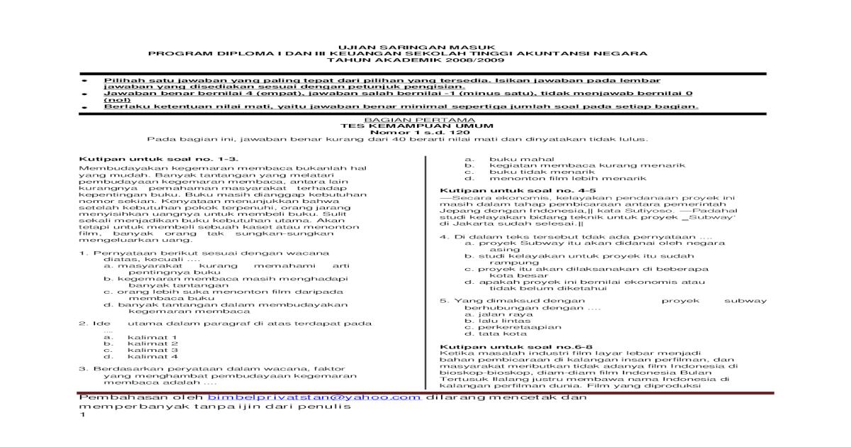 Soal Pembahasan USM STAN 1999-2008 30d9b0aee2