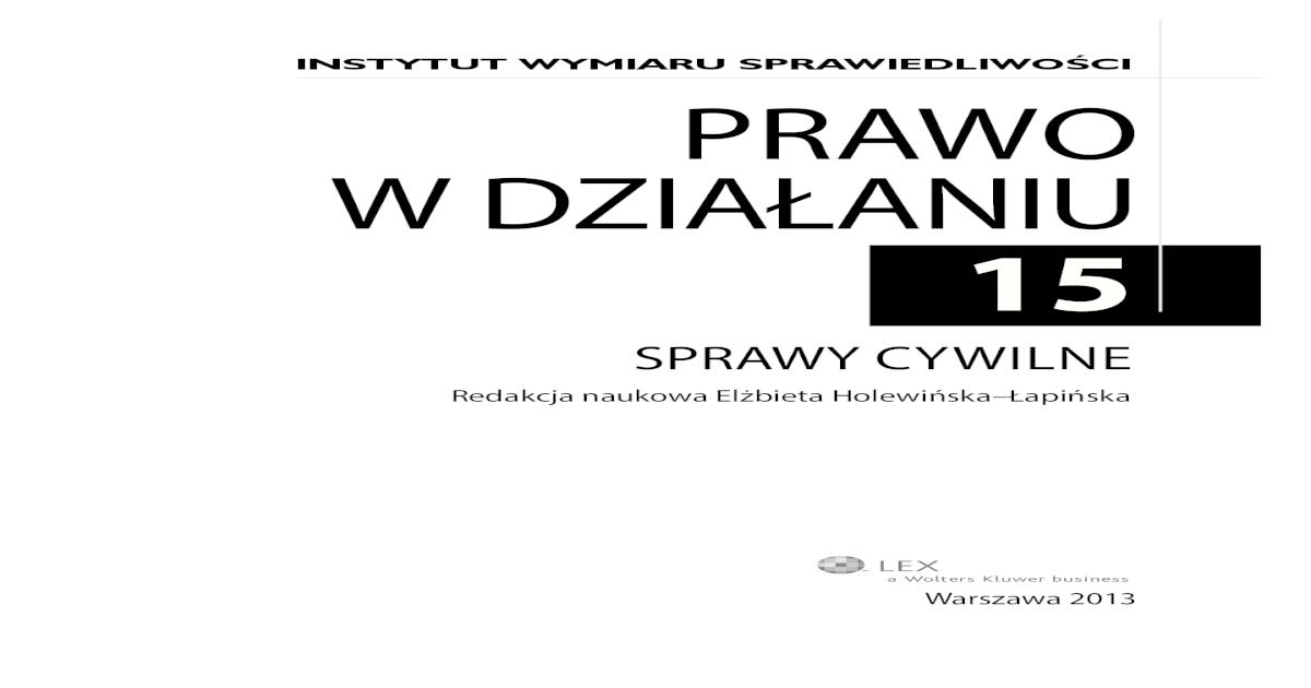 SPRAWY CYWILNE
