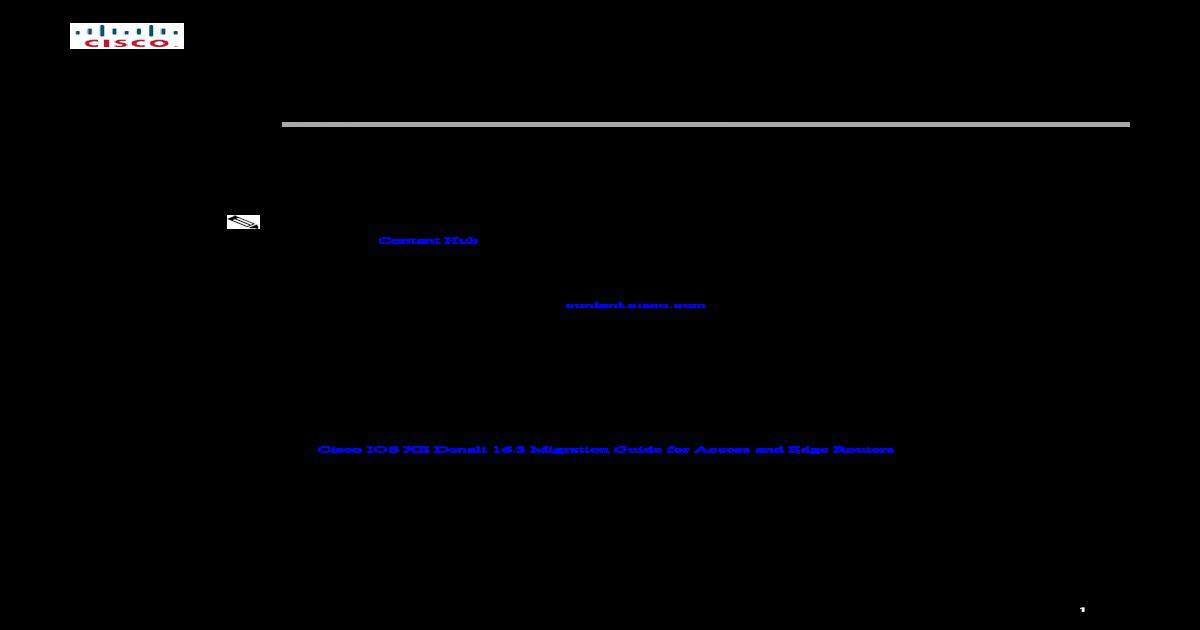 Release Notes for Cisco ASR 1000 Series, Cisco IOS XE     Notes for