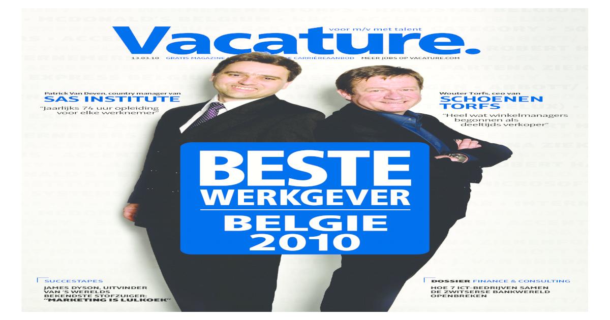 vacature magazine 13 maart 2010