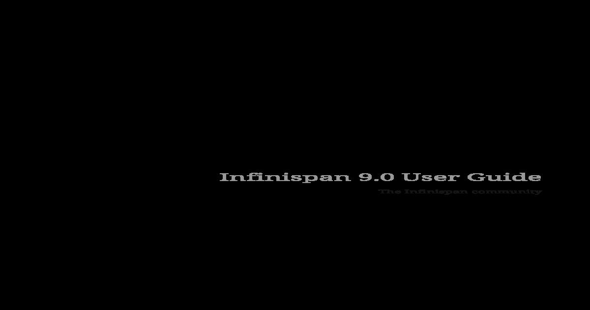 Infinispan 9 0 User Guide