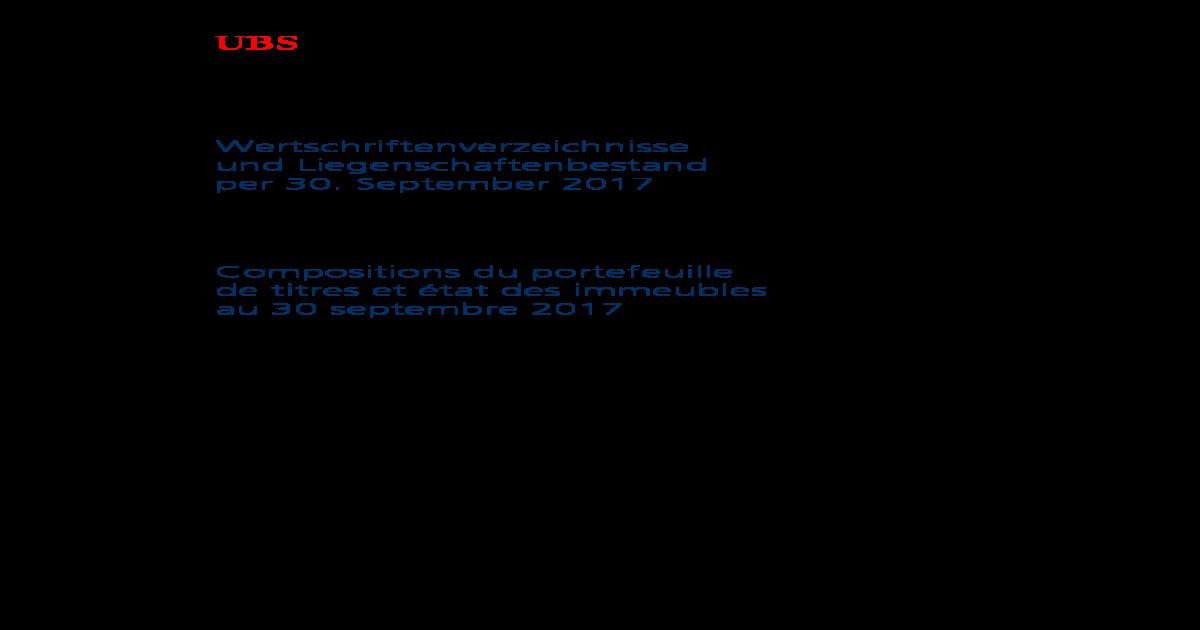 timeless design eca37 ba918 Anlagestiftung der UBS fr Personalvorsorge ... der UBS fr Personalvorsorge  Fondation UBS pour linvestissement UBS Investment Foundation 2 .