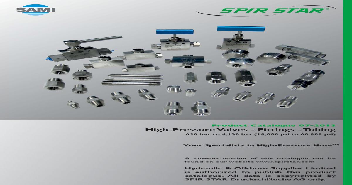 Spir Star Valves & Fittings pdf