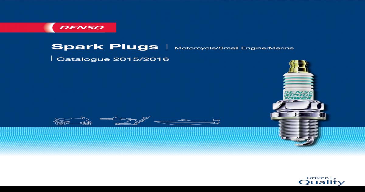 Spark Plugs Motorcyclesmall Enginemarine Densoua Choose Denso