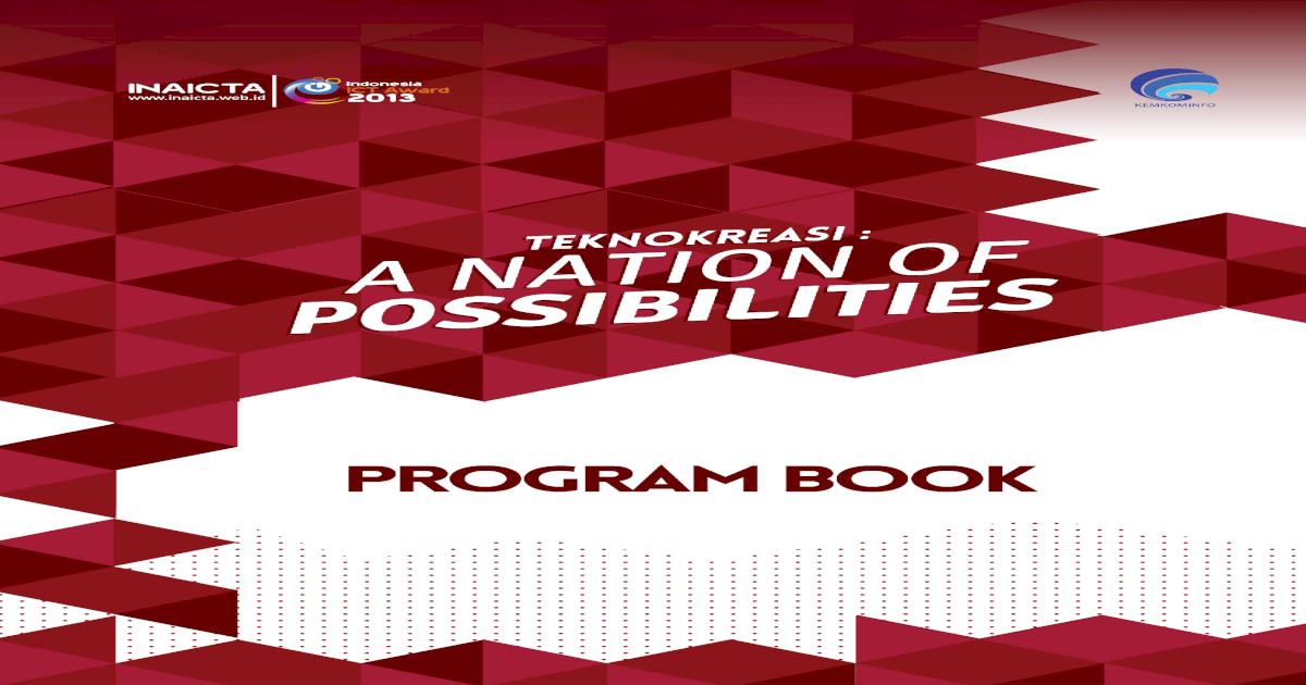 Program Book Inaicta 2013