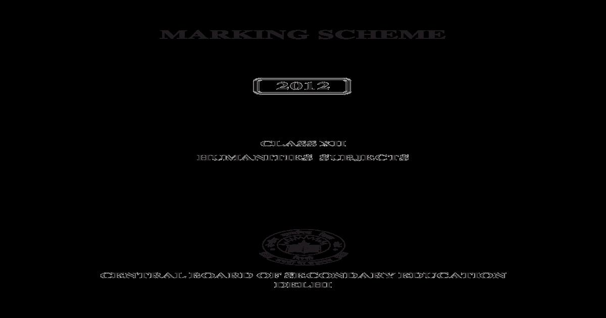 ec971dc299 marking scheme class xii