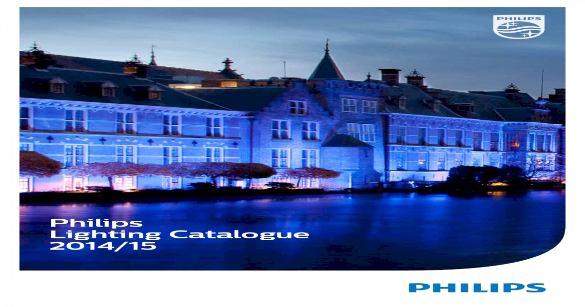 Philips Lighting Catalogue 2014/15