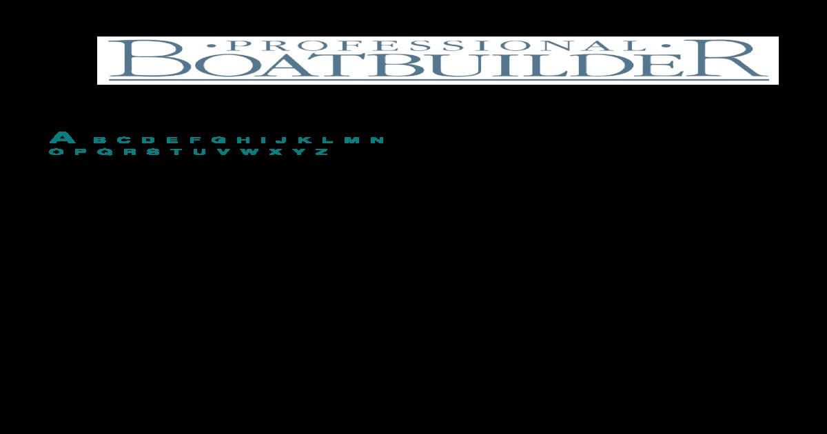 SUBJECT INDEX - Professional BoatBuilder Magazine - INDEX ISSUES 1