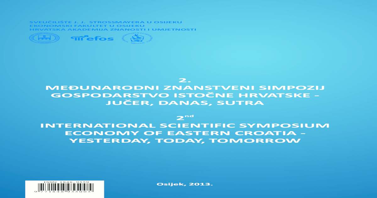 2. meunarodni znanstveni simpozij gospodarstvo istone hrvatske 93603f9e5