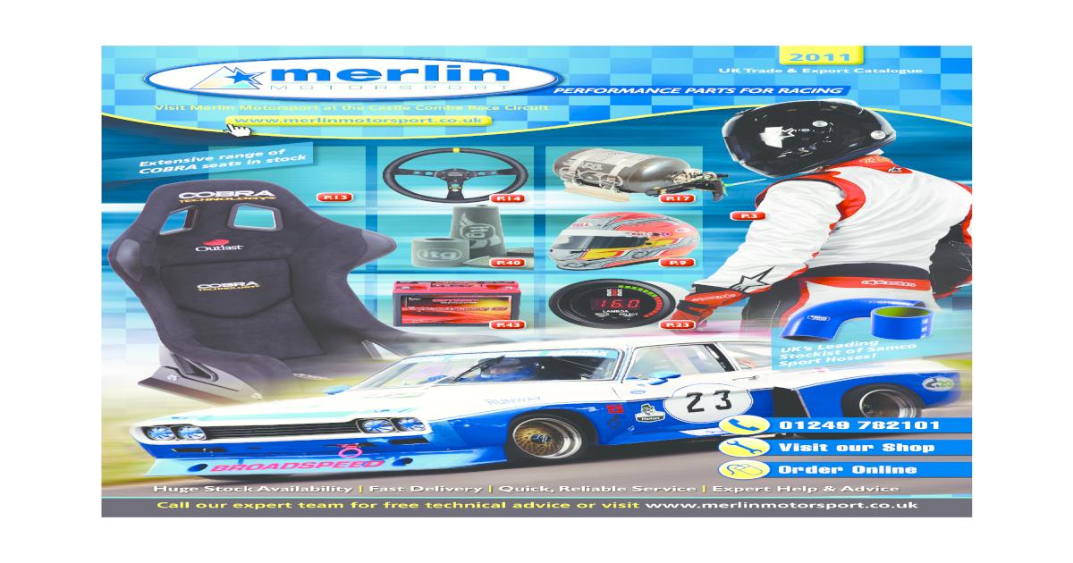Merlin Motorsport Catalogue 2011
