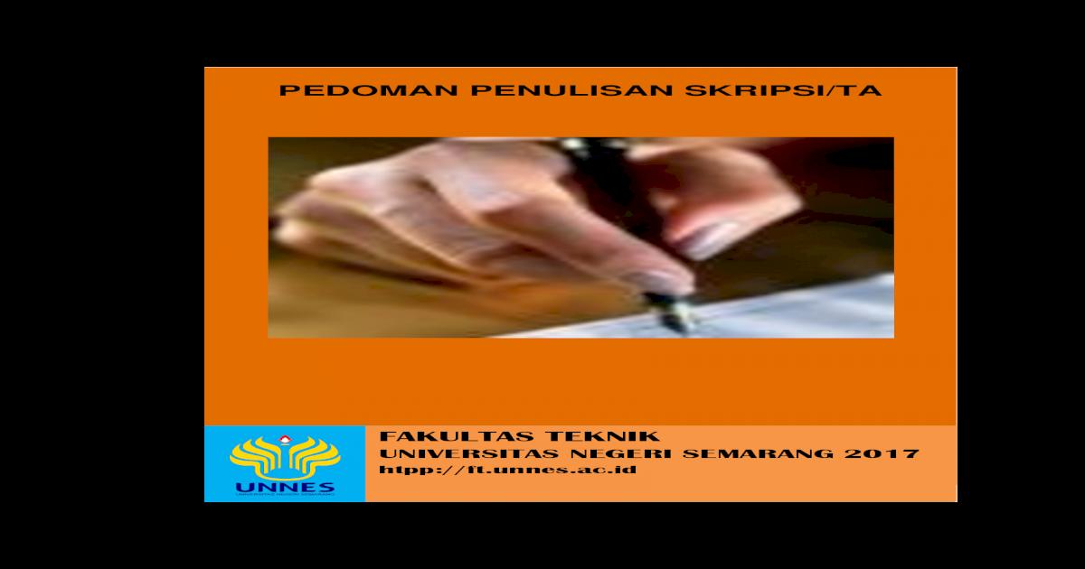 Pedoman Penulisan Skripsi Ta Jurusan Teknik Mesin Unnes Ac Id Wp