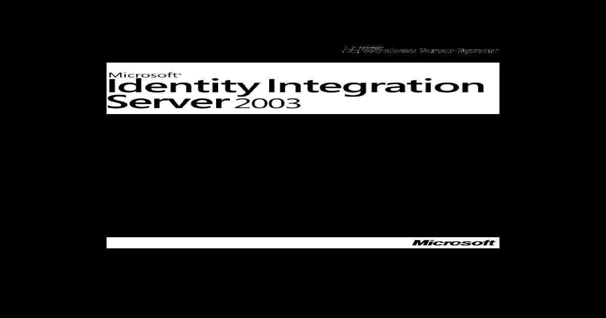 MIIS 2003 GAL Synchronization Step By