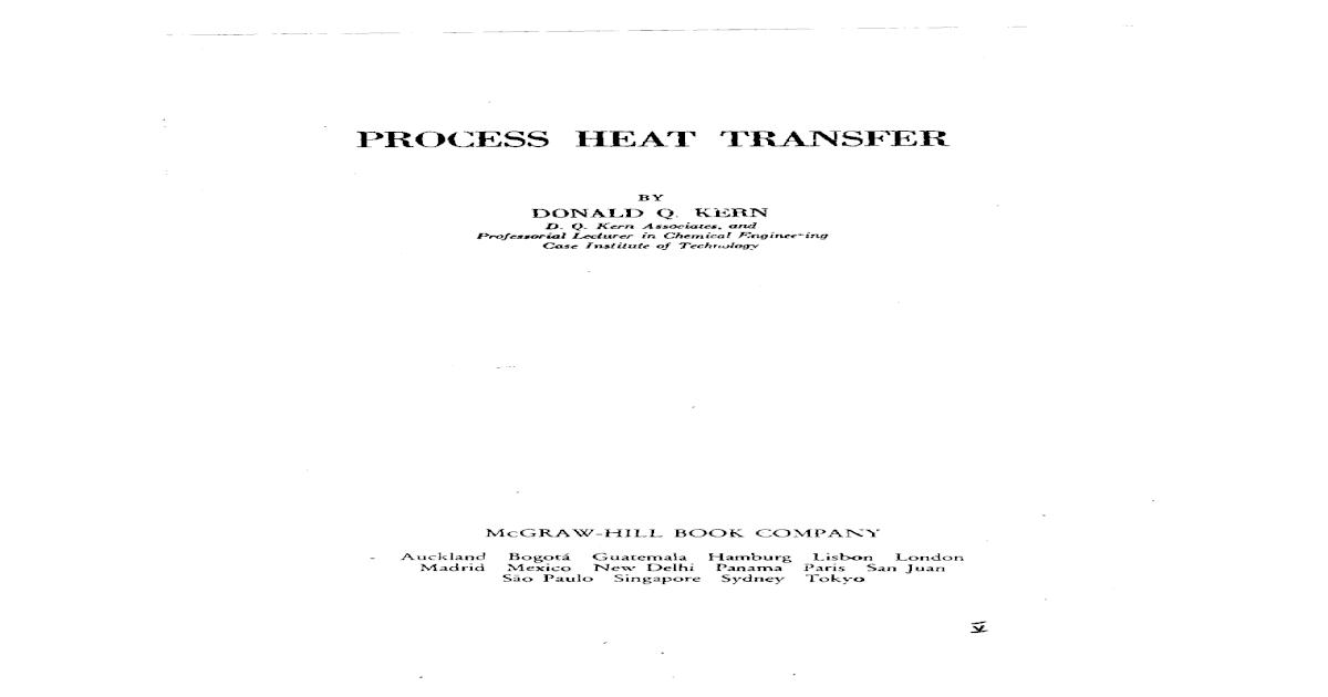 Process Heat Transfer Dq Kern Pdf