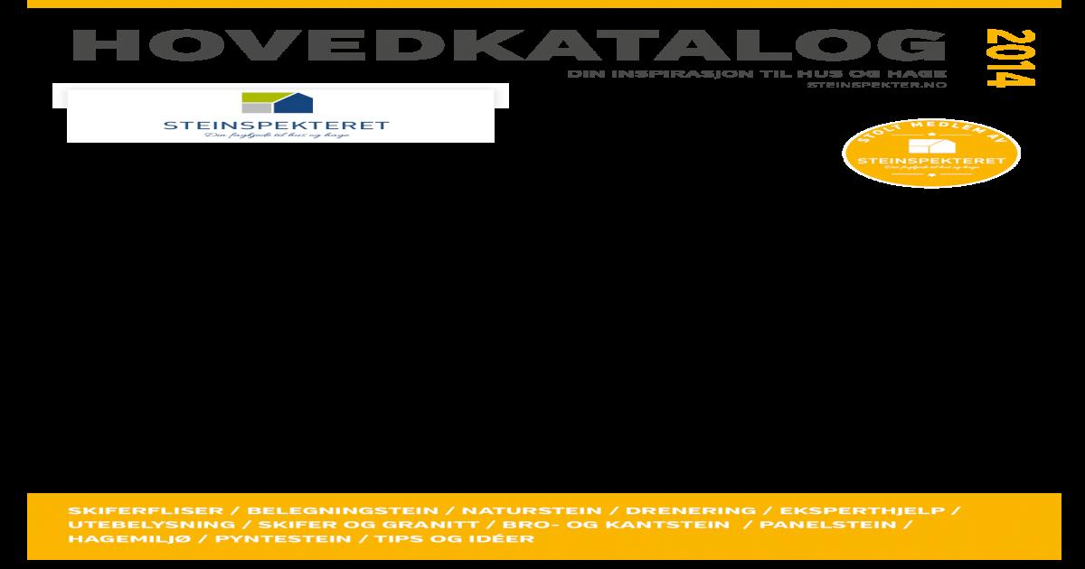 3dc680ae7 Steinspekter vr 2014 - Hovedkatalog Vest