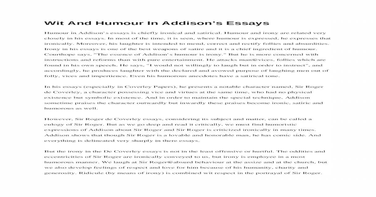 humorous essays for students