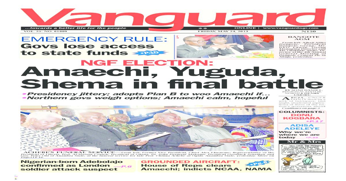 NGF ELECTION: Amaechi, Yuguda,Shema in final battle