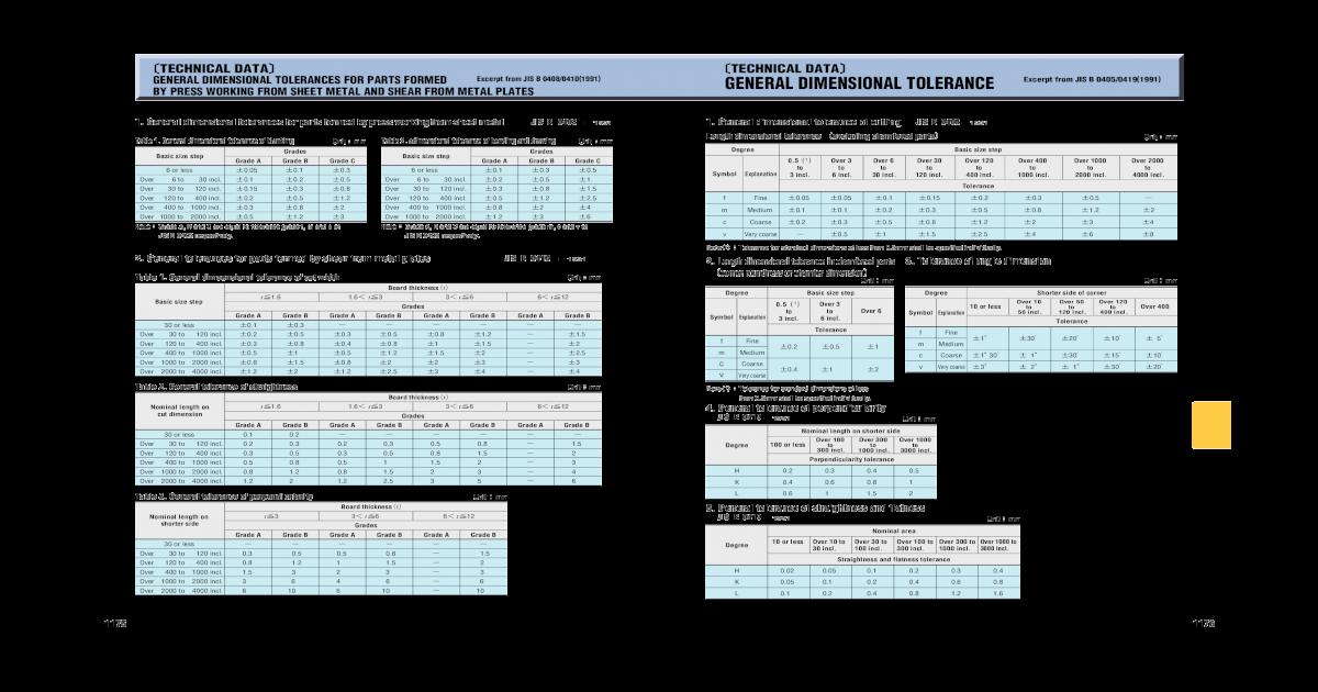 Technical Data Technical Data General Dimensional