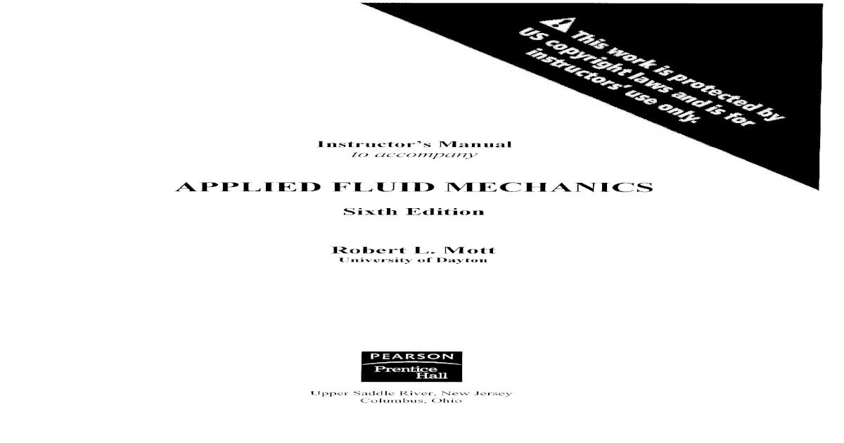 Applied Fluid Mechanics 6th Edition Pdf