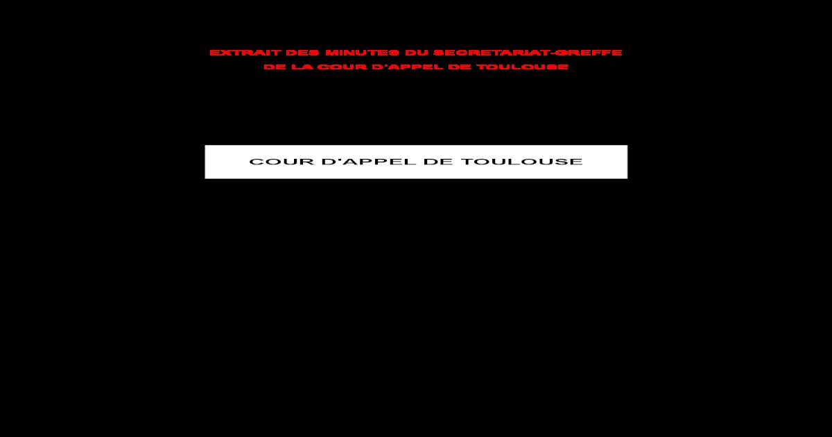 AZF Larrt De La Cour Dappel Toulouse