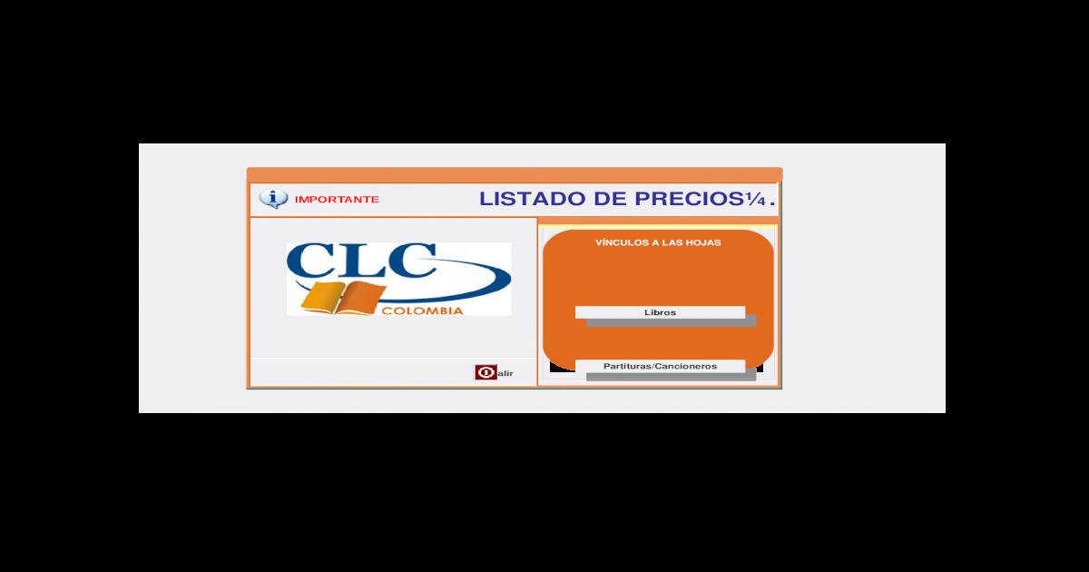 d1f507fd093 Listado de Precio CLC (Abril 2010)