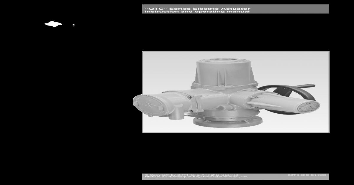Biffi Actuator Wiring Diagram Wiring Diagram And Schematics