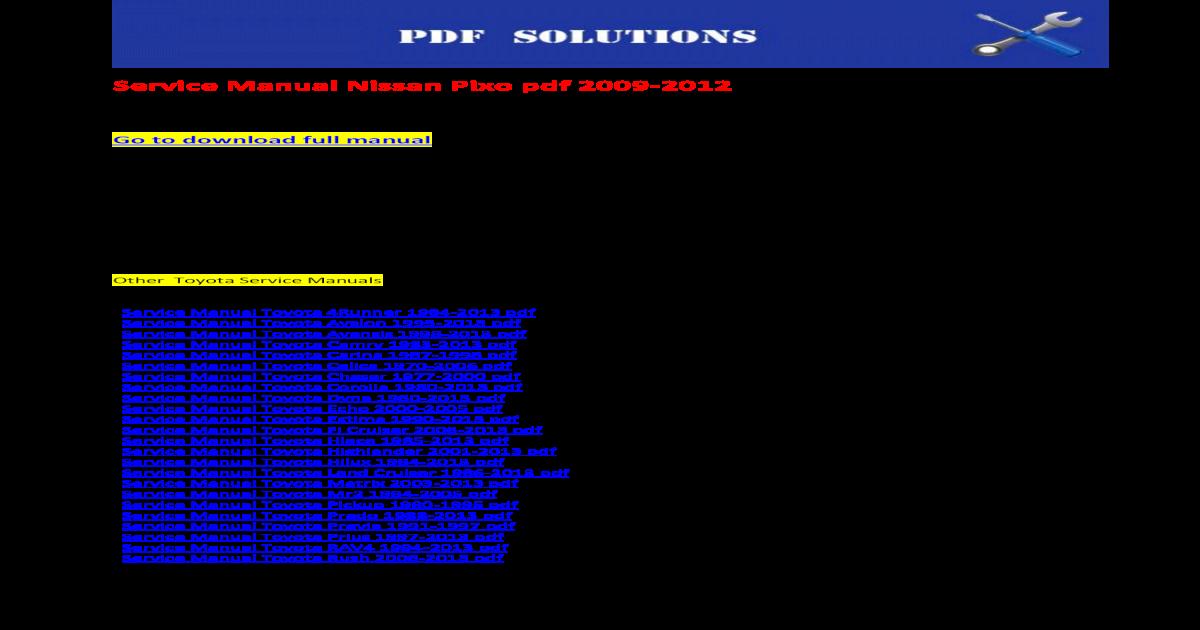 1982 toyota pickup service manual pdf
